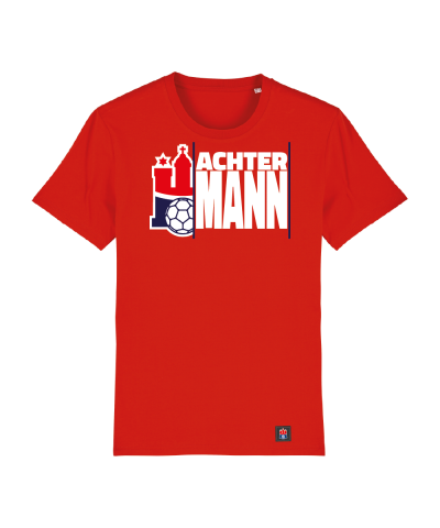 "T-Shirt ""Achter Mann"" Kids in rot"