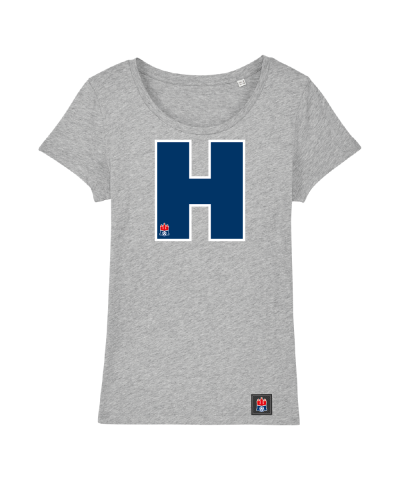 "T-Shirt ""H"" Damen in hellgrau"
