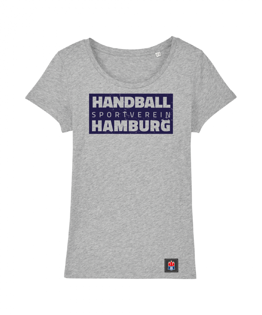 "T-Shirt ""Handball Sport Verein Hamburg"" Damen in hellgrau"