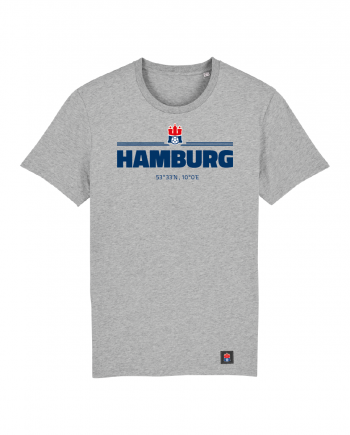 "T-Shirt ""Koordinaten Hamburg"" Kids in hellgrau"